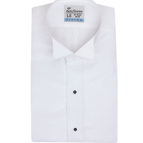 Mens Wing Neck Microfiber Tuxedo Shirt - SLIM