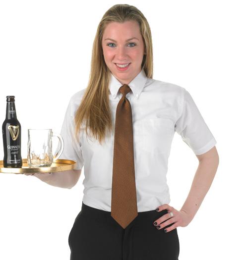 her short sleeve oxford shirt WHITE