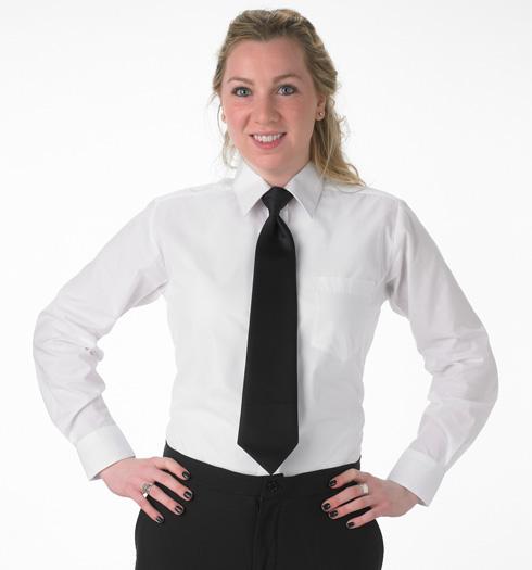 her long sleeve dress shirt WHITE