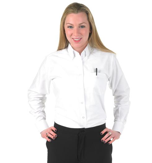 her long sleeve oxford shirt WHITE