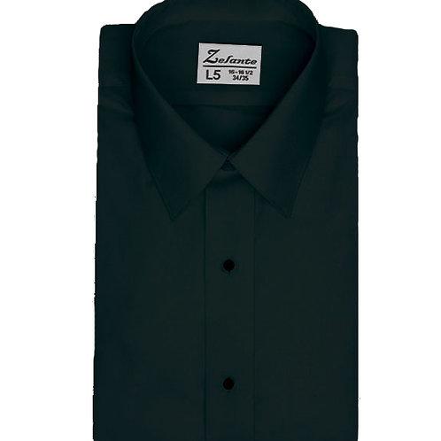 Boys Laydown Collar Microfiber Shirt (BLACK)