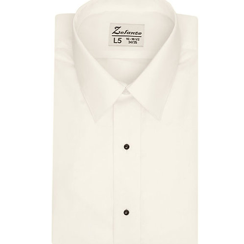 Big Mens Laydown Collar Microfiber Shirt (IVORY)
