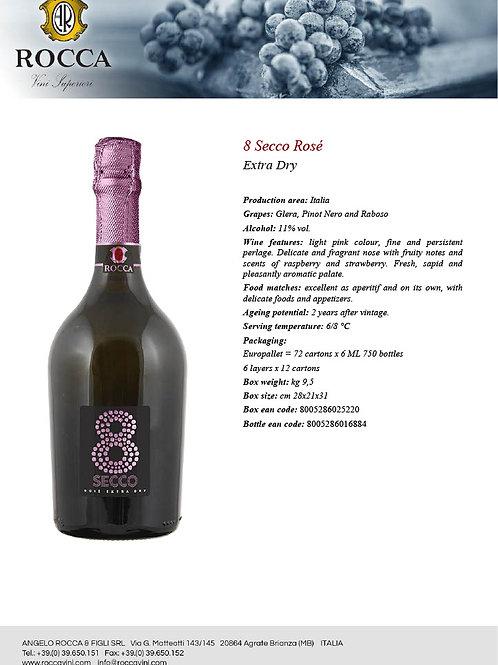 8 Secco - Prosecco DOC Millisimato Dry - Rose