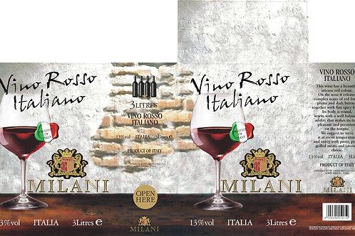 Vino Rosso Italiano 3 liters Milani