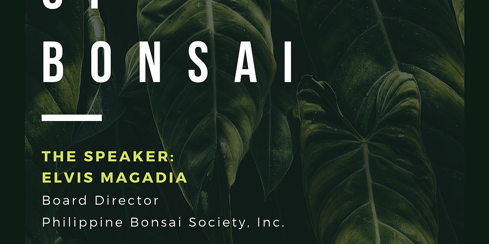 Agribiz Kapihan Online Seminar: Basics of Bonsai (Part 1)