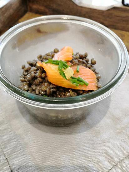 saumon épinard et pates