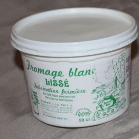 Fromage Blanc Lissé 40 % de MG