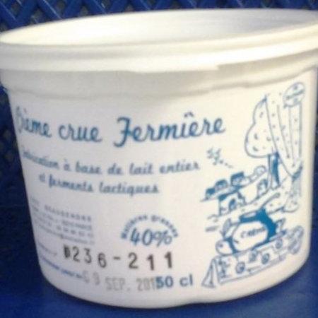 Crème Fraîche Fermière 40 % de MG