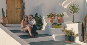 Sophie & Wyn - Santorini Engagement Shoot