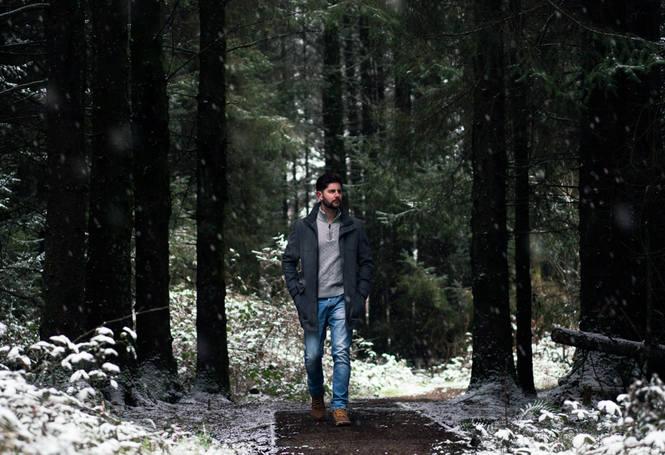 Kayvan walking woods