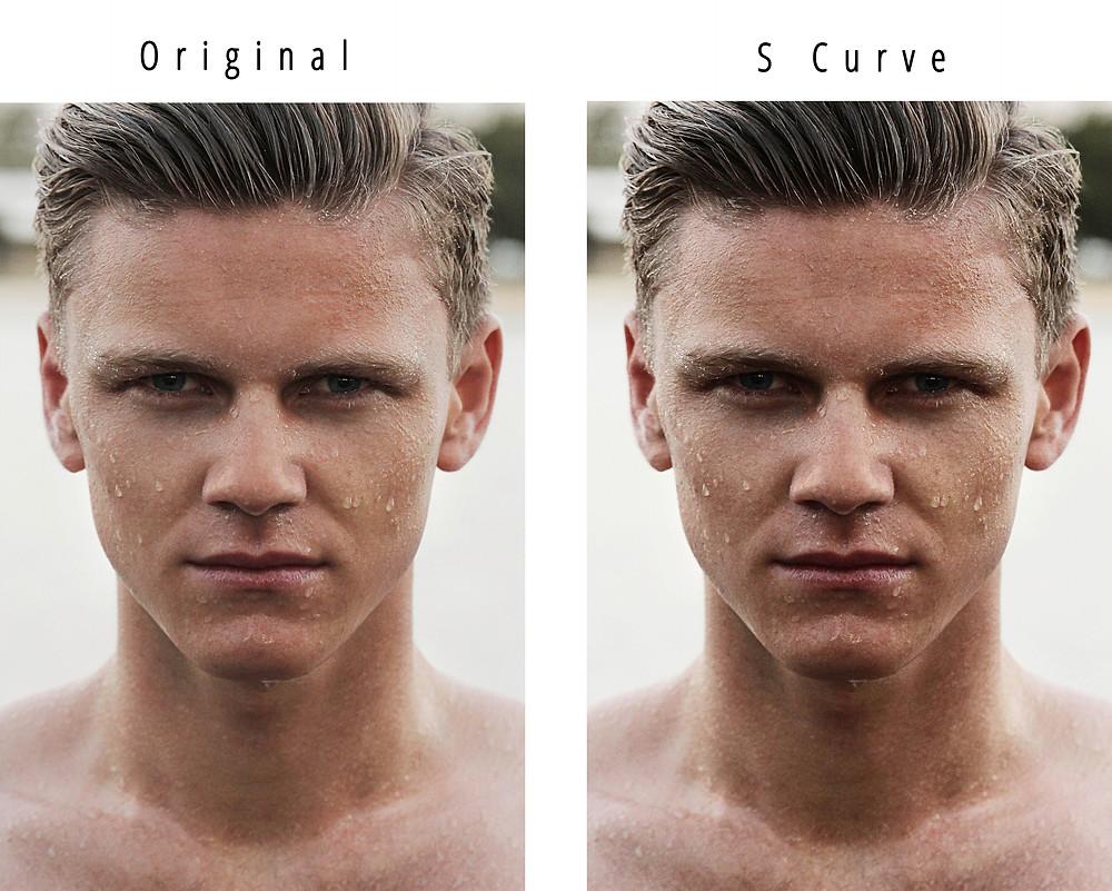 S curve contrast
