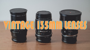 A quick test of vintage 135mm lenses