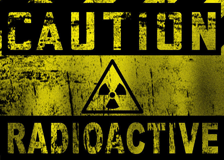 CAUTION RADIOACTIVE SIGN