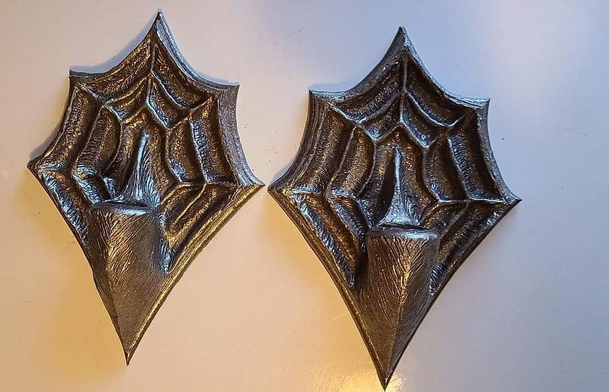 Spider web wall scone