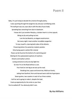 Asa Williams 'Poem ll'