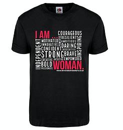 I AM WOMAN T-shirt Black.png