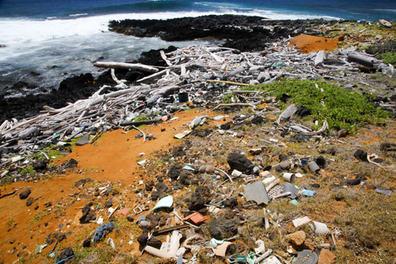 Alexandra Buxbaum 'Plastic washed ashore at Papakoela, Kau, Hawaii Island 3'