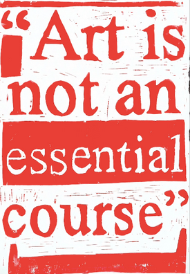 Daisy Dickens 'Art is not an essential course'