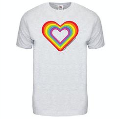 Rainbow Love T-shirt Grey.png