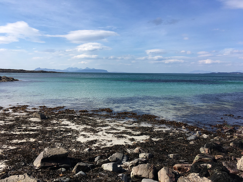 Stunning tropical blue sea around the west coast of Scotland perfect for open water swimming  but would you be able to spot a rip tide in the sea