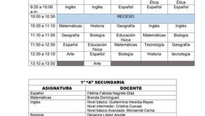 HORARIO SECUNDARIA 2021-2022