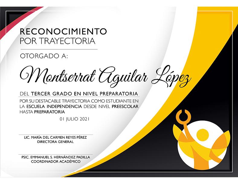 Trayectoria 2020-2021 Montserrat Aguilar