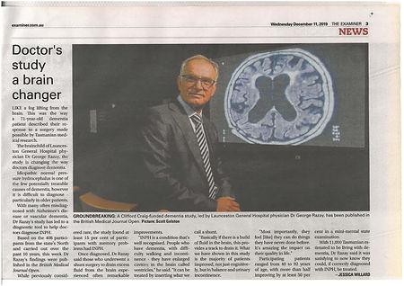 Doctors study brain changer Examiner Dec