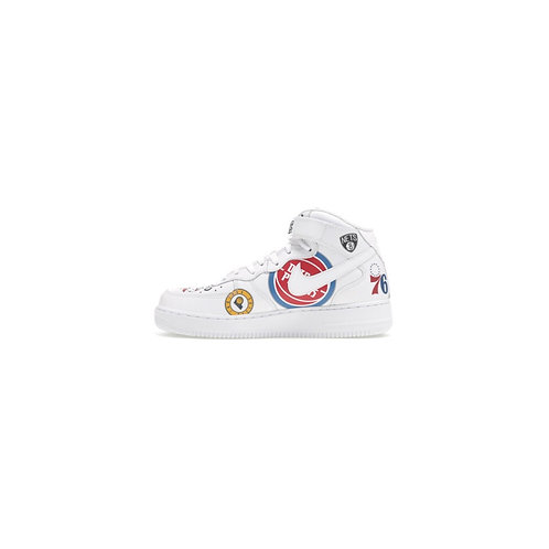 SUPREME × NBA × NIKE AIR FORCE 1 MID 2018 WHITE AQ8017-100
