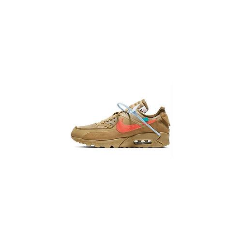 Off White × Nike Air Max 90 Desert Ore AA7293-200