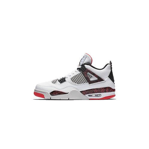 Nike Air Jordan 4 Retro White Black Bright Crimson 308497-116