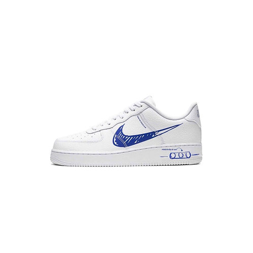 Nike Air Force 1 Low Utility Sketch White Game Royal CW7581-100