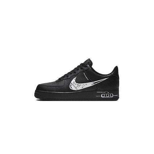 Nike Air Force 1 Low Utility Sketch Black White CW7581-001