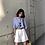 Thumbnail: 【2点セット】カジュアルシャツ&ワイドレッグハーフパンツ yin2019050402
