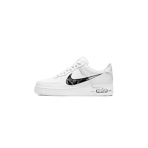 Nike Air Force 1 Low Utility Sketch White Black CW7581-101