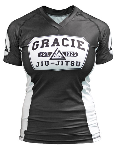 Gracie Barra Short Sleeve Rash Guard sizes YM