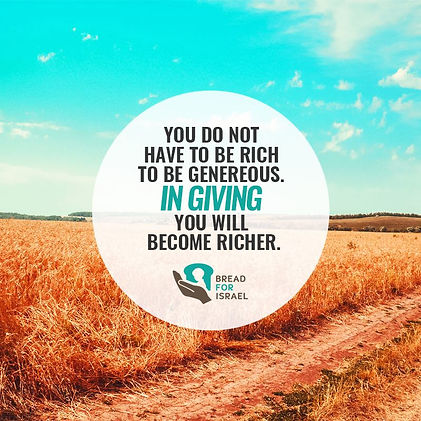 You do not have to be rich to be generous. In giving, you will become richer.