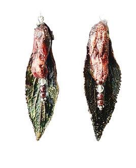 Boucles d'oreilles - DIGITALE POURPRE - Grenat & Cristal