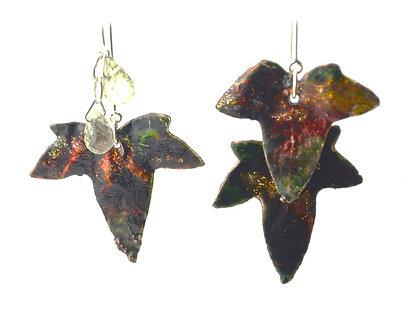 Boucles d'oreilles Lierre - Cristal de roche