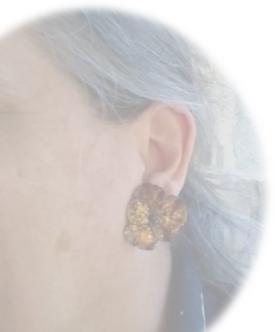 Boucles d'oreilles -PENSEE-GRENAT