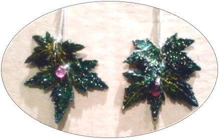 Boucles d'oreilles - Géranium vivace Livide