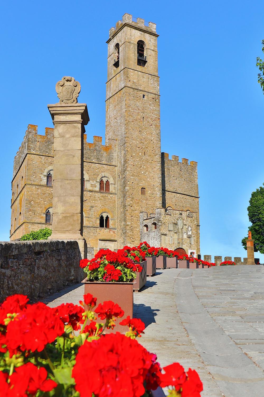 Il castello dei Conti Guidi a Poppi (AR)