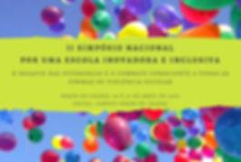 """II Simpósio Naconal """"Por uma escola inovadora e inclusiva"""". Poços de Caldas"""
