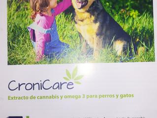 CRONICARE. Extracto de cannabis y omega 3 para perros y gatos.