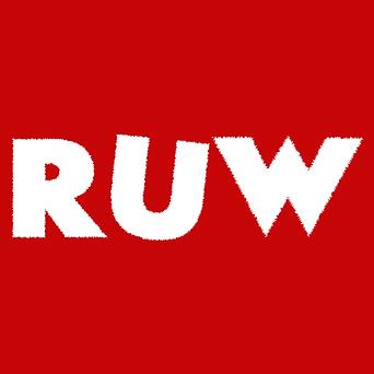 RUW rough logo op rood.png
