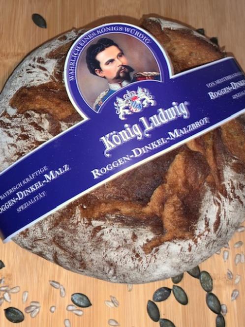 "Unser ""König-Ludwig-Brot"" 750g Roggen-Dinkel-Malzbrot"