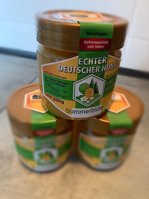 """Honig aus dem Hessischen """" Sommerblüte"""" 250g Glas"""