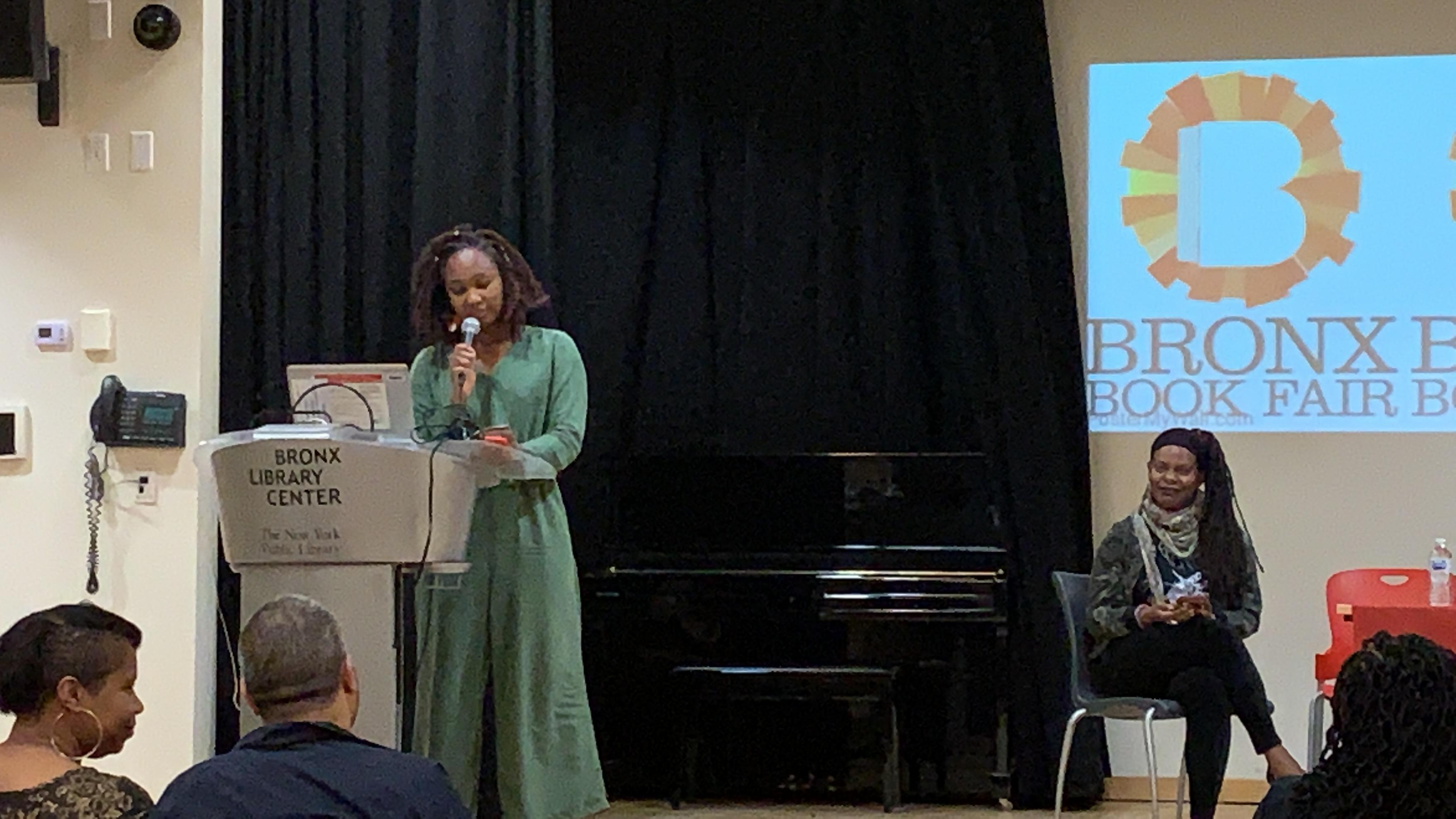 Reading at Bronx Book Fair