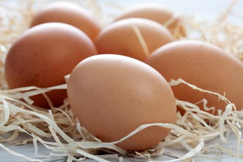 6 er Karton frische Eier aus der Region. Größe M. Freilandhaltung