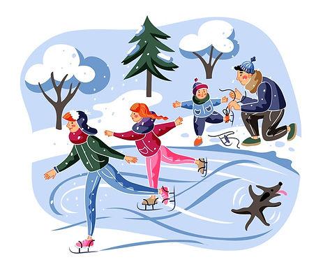 Открытие зимнего сезона на катке