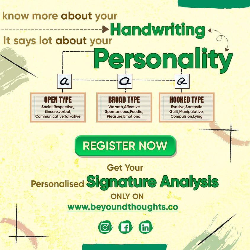 Signature Analysis Event